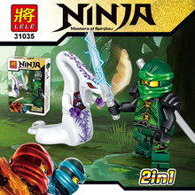 LELE Technic 12IN1 Ninja VS Snake figures Series Building Blocks Phantom Ninjago Toy Early Eductional Bricks Toys for Children