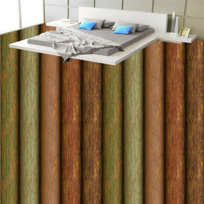 Free shipping bathroom flooring custom living room bedroom self-adhesive photo wallpaper Wood Pile Wood 3D flooring<br>