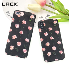 LACK Luxury Floral Flower Paint Phone Case For iPhone 7 Plus 6 6s 8 Plus X Vintage Rose Artistic Hard PC Back Cover Cases Coque(China)