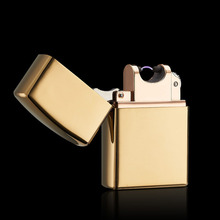 So Cool !  Windproof  Metal pulse USB Rechargeable Flameless Electric Arc Cigar Cigarette Lighter  Made in China