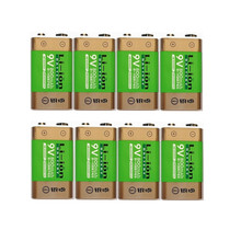 Hot-selling 8pcs/lot 800mAh Li-ion 9 V Rechargeable Batteries For Smoke detectors Wireless Microphones