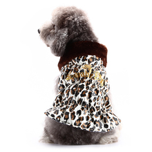 Brand Luxury Pet Dog Cotton Autumn Winter Clothes Leopard Jacket For Puppy Medium Dog Mascotas Roupas Para Cachorro Pet Shop 413