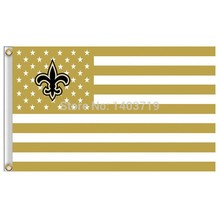 3X5FT New Orleans Saints USA Football Flag NFL stars and stripes flag high quality 100D polyester flag Events home furnishings
