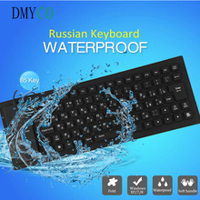 Russian Version silicon the Tablet waterproof gamer Gaming Keyboard USB Wired 85 Keys teclado gamer for Android TV BOX Mini PC(China)