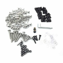Aftermarket free shipping motorcycle parts Complete Fairing Bolts Kits For Suzuki GSXR 750 00-03 GSXR 1000 01-02 Silver(China)