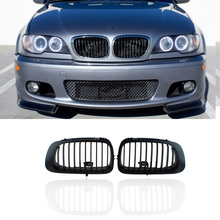 Matte color Grill for BMW E46 Front Grille E46 2D Series 1998-2002 E46 Front Grill Grilles Matte Black ABS Good Quality For BMW