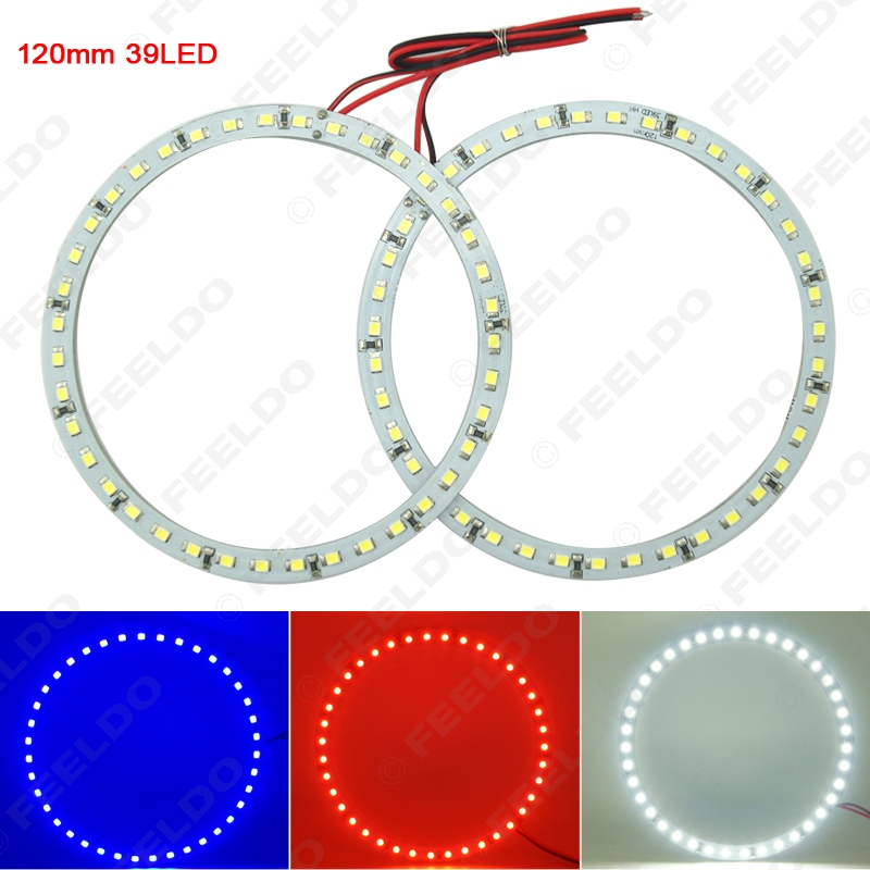 2Pcs 120mm Car Angel Eyes 1210/3528 39SMD LED Headlight Halo Ring Angel Eye Lighting White Red Blue #FD-2673<br><br>Aliexpress