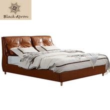 TOIN Bedroom Furniture Leather Beds muebles De dormitorio Lit Modern Letto Cama Double King Queen Size Soft Woods Bed MH221(China)