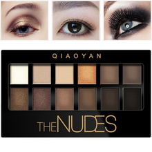 2016 maquiagem profissional Waterproof Smoky Eye Shadow Contouring Makeup Shimmer The Nudes Eyeshadow Glitter Palette