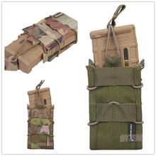 NEW Hunting Airsoft  Single Magazine Pouch military army MOLLE EMERSON EM6345 khaki brown black