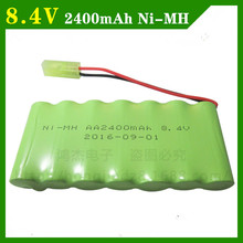 8.4V 2400mah ni-mh battery pack AA rechargeable battery remote control electric toy car model