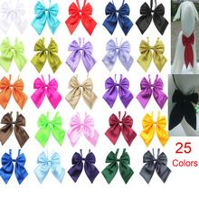 50pcsNew Fashion Pet Dog Bow Tie Necktie Cute Bowknot Collars Pet Colorful hair style Pet tie Clothing Dog