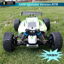 70km/h 1:18 Proportional WL high-speed toy car 2.4G remote control four-wheel drive off-road vehicle drift RC car(China)