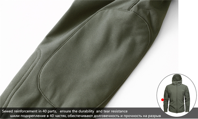 Mege Shark Skin Soft Shell Military Tactical Jacket Men Waterproof Army Fleece Clothing Multicam Camouflage Windbreakers 4XL 17