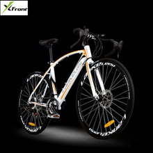 New brand 700CC carbon steel frame 21/27 speed break wind disc brake road bike cycling outdoor sport bicicleta racing bicycle(China)