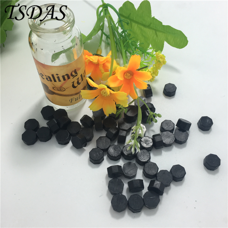 55pcs/lot Creative Vintage DIY Wax in Bulk Sealing Wax Granule Wax Stamp in Black Color With Glass Bottle Hot Sale<br><br>Aliexpress