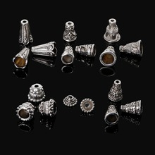 86pcs/lot Mixed Silver Plated Bracelet Clasp Hook Horn Beads Caps Jewelry Making Accessories DIY Beads