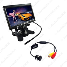 "7"" Headrest Standalone TFT LCD Monitor With CCD Mini Camera Car Rearview Systme DC12V #J-3756"