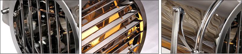 Industrial Bar Nordic American Creative Studio Silver Golden Floor Lights Tripod Searchlight Floor Lamps E27 (7)
