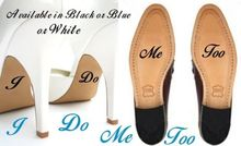 2pcs/set I Do Me Too Personalised Wedding Shoes Decal Vinyl Novelty Cute Stickers for Wedding Accessories Stickers Muraux D764
