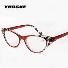 YOOSKECat Eye Slim Reading Glasses Women Diopter 1.5 2.0 2.5 3.0 3.5 Presbyopic Eyeglasses Stylish Spectacles With Spring Hinges