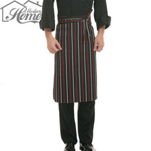 Half Waist Chef Aprons With Pocket Kitchen Restaurant Cooking Aprons Work Apron Waiter Kitchen Cook Tool Unisex For Women Men