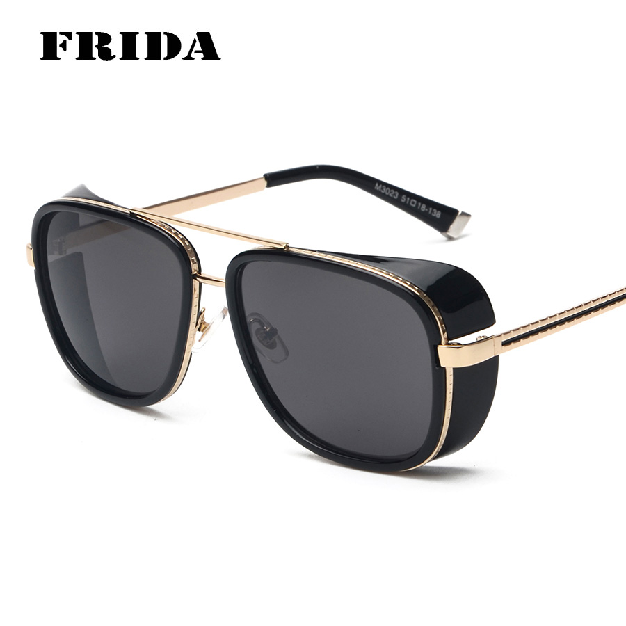 FRIDA 2016 IRON MAN 3 Matsuda TONY Steampunk Sunglasses Men Mirrored Designer Brand Glasses Vintage Sports Sun glasses<br><br>Aliexpress