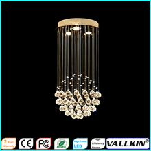LED Crystal chandeliers Ceiling Hanging Lamp Fixtures for Indoor Home Cafe D30CM H60CM CE FC ROHS VALLKIN(China)