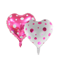 18 inch Wave Point Heart foil balloons marry wedding party decoration ballon Valentine's day globos de fiesta love heart balloon