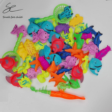 50pcs/Set New Fish Pond Game Magnetic Fishing Pole Rod 3D Fish Model Baby Bath Toys Outdoor Fun Kids Toy for children