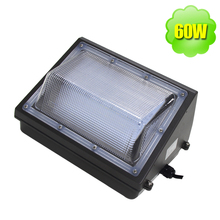 Heavy-duty Aluminum 60W LED Wall Pack Light Fixture 250W HID Replacement for Public Buildings