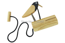 1pc children kids natural Wooden traditional bird rattles clappers castanets Orff early musical education instrument