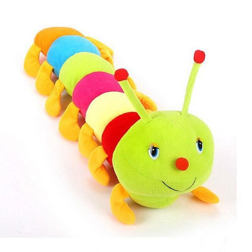 Colorful Caterpillars Stuffed Toys Kawaii Plush Toys Stuffed Animal Caterpillar Doll Hold Pillow Doll Children Birthday Gift<br><br>Aliexpress