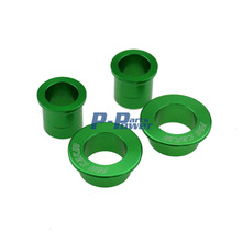 GREEN CNC Billet Aluminum Front & Rear Wheel Hub Spacers Fit Kawasaki KX125 KX250 KXF250 KXF450 Motorcycle Dirt Bike Off Road(China)
