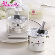 10Piece/Lot With Free Shipping Champagne Bucket Kitchen Timer Unique Party Favours Wedding Gifts For Guests Souvenir(China)