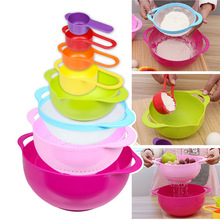 Creative life utility gadget mother day gift 8piece in one set Multicolor creative kitchenware set kitchen Bowl set kitchen tool