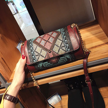 In the spring of the new folk style embroidery embroidery small cylinder bag retro shoulder chain handbag factory direct(China)
