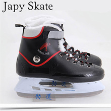 Japy Skate Ice Hockey Shoes Adult Child Ice Skates Professional Flower Knife Ice Hockey Knife Shoes Real Ice Skates(China)