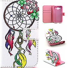 Wallet PU Leather Clamshell Phone Case Cover Flip Shell Back Cover&Card Holder Stand Cell Phone Cover Case For LG C70/H340N