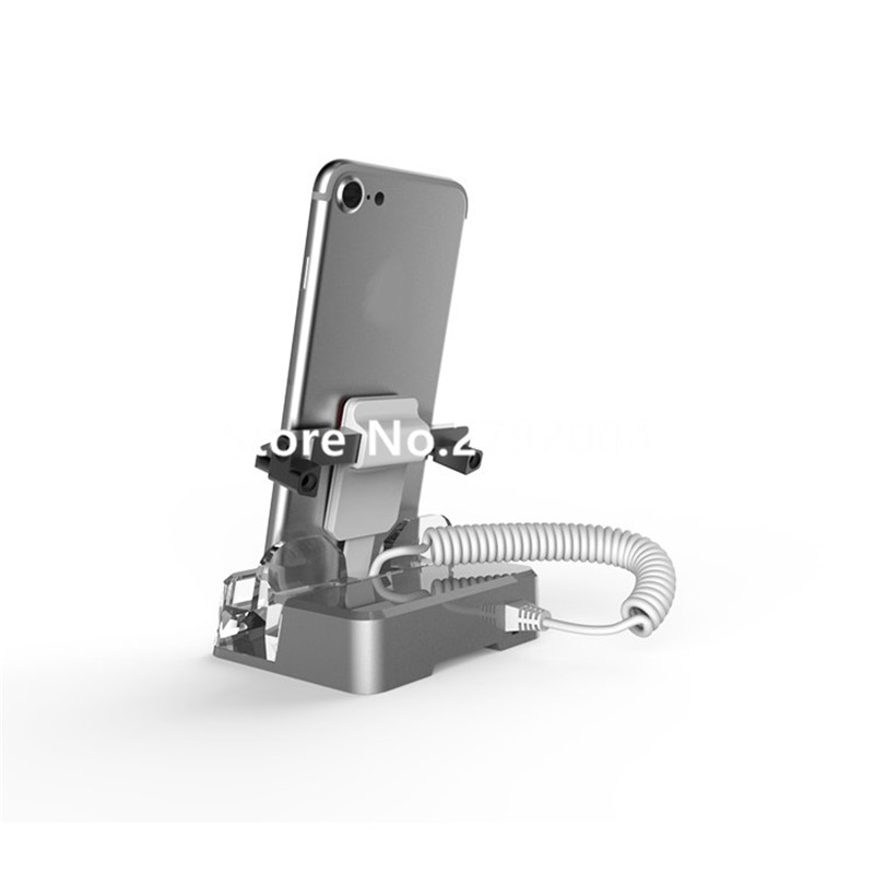 High Quality Acrylic Security Mobile Phone Holder for retail exhibition Tablet Shiny Bracket China Factory  with clamp<br>