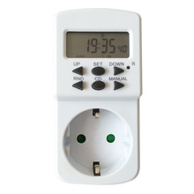Weekly Digital Timer EU Socket Plug 230V 24 Hours 7 Days Auto Weekly Digital Programmable Power Saving LCD Power Timer Free Ship