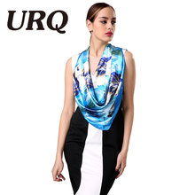 brand designer star silk scarf square satin girl fashionable scarves lady scarf for women shawl 2016 high quality 90*90