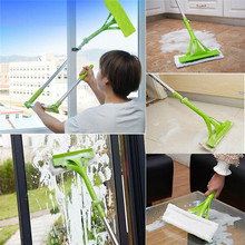 Telescopic Foldable Handle Cleaning Glass Sponge Mop Cleaner Adjustable Window Extendable Household home cleaning mops broom(China)