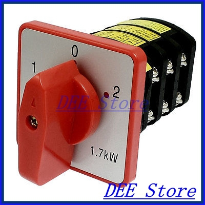 AC 380V 10A on/off/on 3 Positions Rotary Cam Universal Changeover Switch<br><br>Aliexpress
