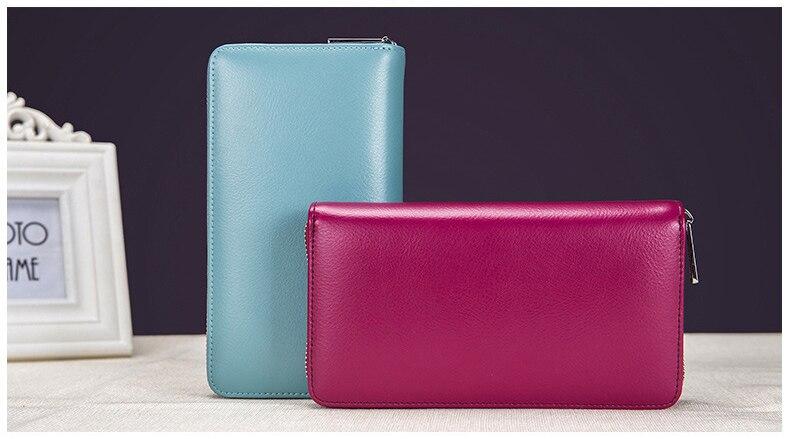 WINNER® Minimalist Real Cowhide Split Leather RFID Blocking Anti Theft Wallet