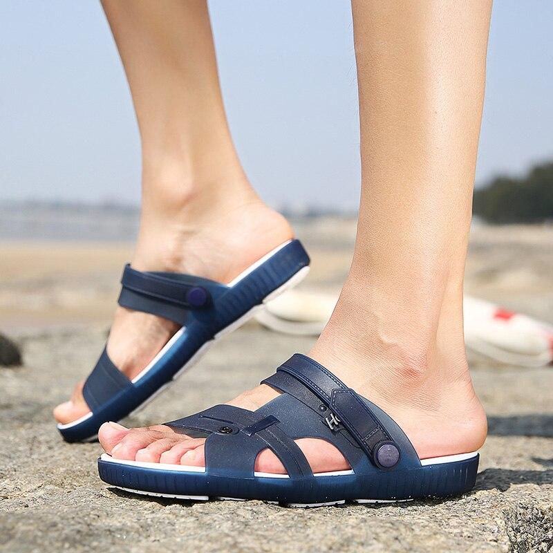 15d248e50e4f Ramialali Summer Slippers Men Casual Leisure Soft Slides Eva Massage Beach  Slippers 2018 Water Shoes Men `s Sandals Flip Flops