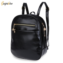 7 Candy Color Women Back Pack Bag 2016 Japan Korea Teenage Student School Travel Bagpack Girls PU Leather Small Backpack
