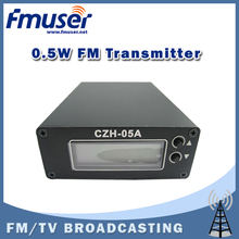 Free Shipping FMUSER CZH-05A 0.5W FM transmitter for radio broadcast FM station Clear Stock Lowest Price(China)