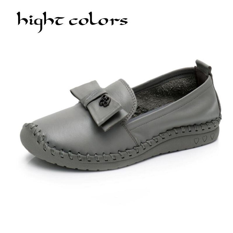 New Handmade Shoes 2018 Retro Loafers Women Shoes Casual Work Driving Shoe Comfortable Women Flats Genuine Leather Flat Shoe <br>