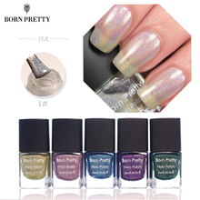 BORN PRETTY Holographic Nail Polish 6ml Holo Glitter Shine Shimmer Manicure Nail Lacquer Polish Varnish(China)